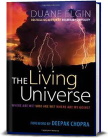 Book cover for The Living Universe